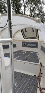 Angler 204 center console boat tent dodger sprayhood cover