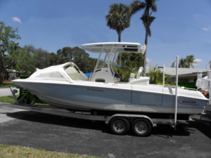 Boston Whaler 270 Dauntless bow dodger marine Canopy