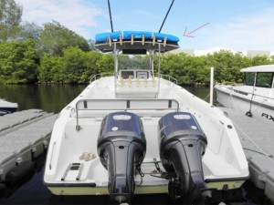 Century 3200 center console 2003, marine canopy storage case, portable bow dodger , The Element, boat sun shade, Boat tent, boat canopy, instant cabin , camping on the water