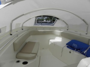 Cobia 277 center console fishng boat bow dodger boat tent sun shade