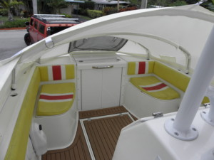 Concept Cuddy 34' center console boat marine canopy, bow dodger, boat shade, bow shade, canvas cabin