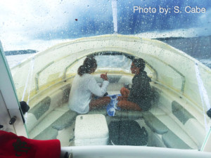 boat trip, family boating, raining, boat trip, rainy rains rainbow canopy boat shade, The element, boat tent