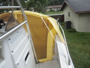 Glacier Bay power catamaran Marine Canopy boat tent family boating weekend fun