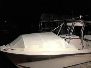 Grady White center console CC Spray Hood, bow dodger, The Element