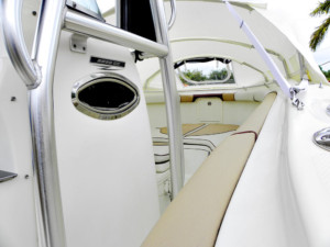 Hydra-Sports 2500 cc with The Element bow dodger overnight boating sleeping