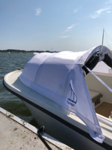 Mako 22ft Classic center console with The Element bow dodger