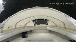 Regulator 34 SS center console boat bow dodger cover tent