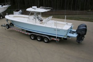Regulator 34 SS center console fishing boat