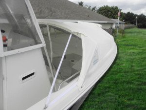 Sailfish 2360 CC center console boat shade bow dodger marine canopy