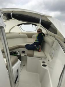 Sailfish 270 center console boat shade marine canvas cabin