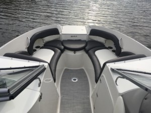 Stingray 214 LR bowrider boat shade bow tent marine canopy, Stingray 208 LR bowrider, Stingray 192 SC deck boat, Stingray 206 center console fishing boat, Stingray 195 RX spray hood bow dodger canopy for overnight camping on the boat