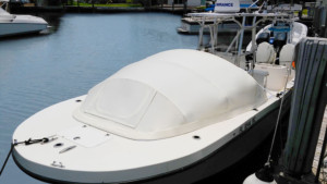 Dusky 278 center console boat bow dodger
