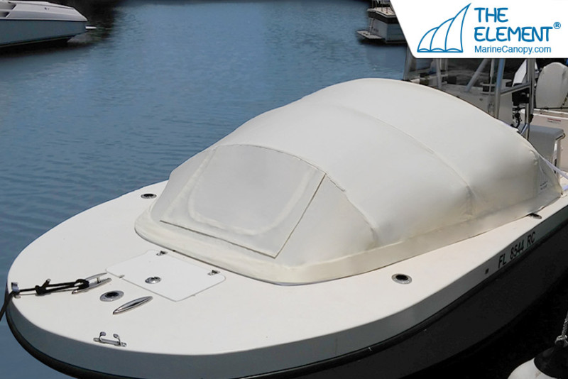 The Element® Marine canopy provides a wide range of benefits for those seeking to take their open bow boat out for the weekend with family.