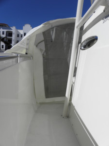 2017 Cobia 277 CC fishing boat with The Element bow dodger