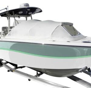 Sea Fox center console boat bow dodger marine canvas cabin shade