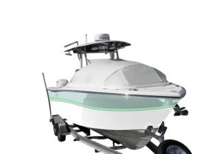 Sea Fox center console fishing boat shade