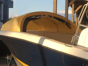 Hydra-Sports center console boat The Element marine canopy