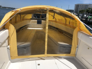 Jupiter center console fishing boat with bow dodger