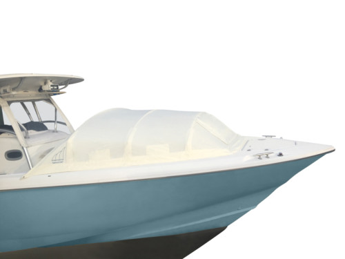 The Element bow dodger marine canopy for center console boats shade Boston Whaler Outrage