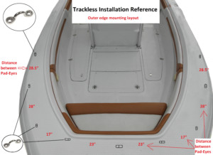 Trackless bow dodger bow canopy